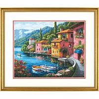 Набор для вышивания крестом Прибрежный город/Lakeside Village DIMENSIONS Gold Collection 70-35285