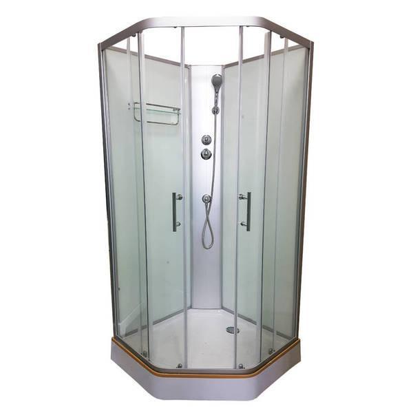 Душевой бокс Veronis BN-1-90 стекло прозрачное, без крыши, 900х900х2000 мм
