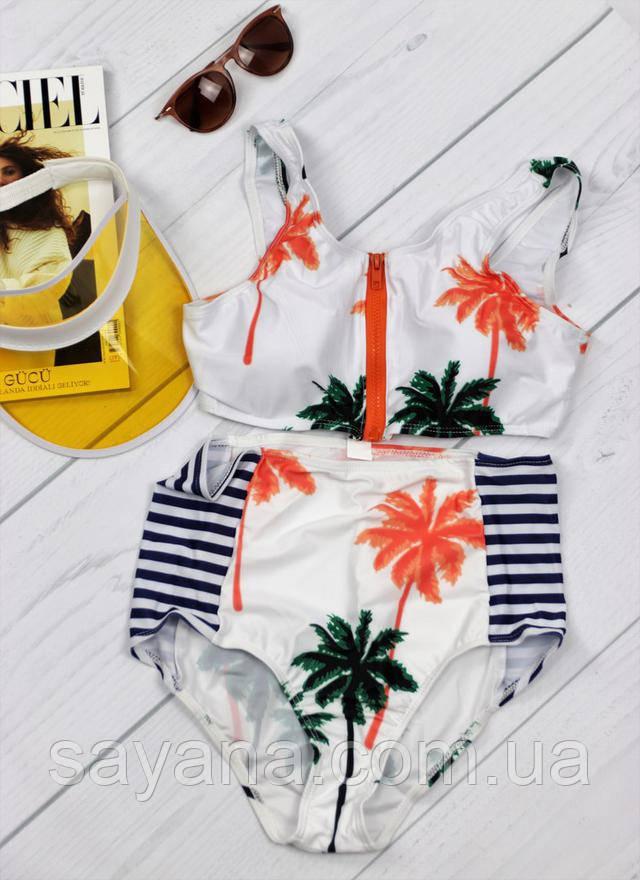 раздельный купальник пальмы