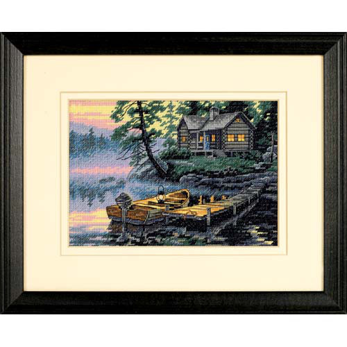 Набор для вышивания крестом Утро на озере/Morning Lake DIMENSIONS Gold Collection 65091