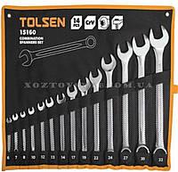Набор ключей комбинированных в чехле 14 штук «Tolsen» (Толсен)