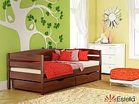 Дитяче односпальне ліжко Estella Нота Плюс з натурального дерева