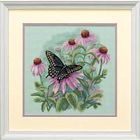 Набор для вышивания крестом Бабочка и ромашки/Butterfly and Daisies DIMENSIONS 35249