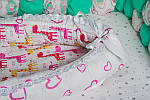 """Кокон-гнездышко для новорожденного """"Жирафик"""", фото 3"""