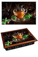 Поднос на подушке BST 040397 44*36 коричневый цветной чай