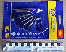 Набор ключей имбусовых на кольце 65248