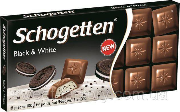 Schogetten Black & White c печеньем