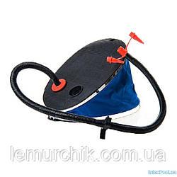 Ножной насос для надувания Intex, объем 3 л, 28 см, 3 насадки