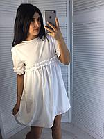 Платье свободного кроя с мелкими рюшами, не светиться, фото 1