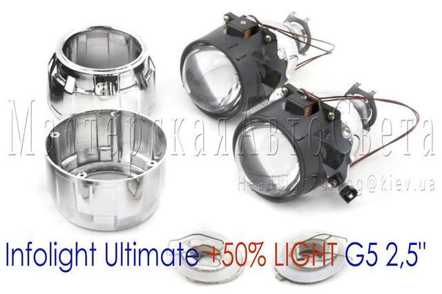 """Біксенонові лінзи Infolight Ultimate +50% LIGHT G5 2,5"""" дюйма"""