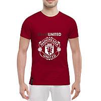 Футболка с принтом Манчестер Юнайтед (красная)
