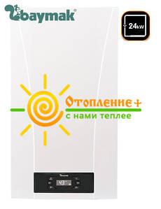 Двухконтурный турбированный газовый котел Iora BAYMAK 24кВт + Коаксиальний дымоход  (Традиционный)