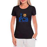 Женская футболка с принтом Манчестер Юнайтед (черная)