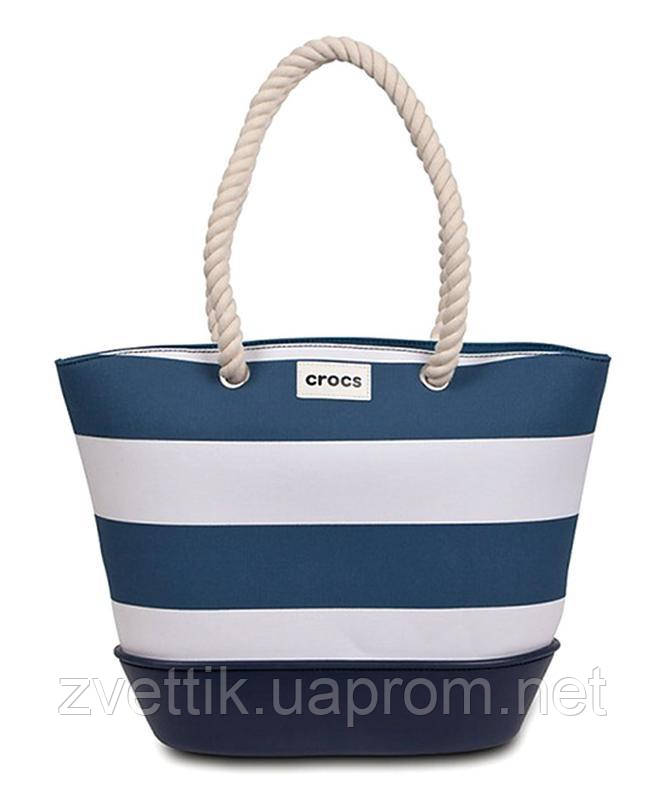 Сумка большая Crocs Canvas Striped Beach Tote Оригинал (США)