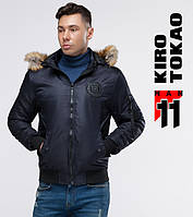 11 Kiro Tokao   Бомбер мужской 9981 темно-синий