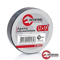 Ізолента (чорна) InterTool розмір-17мм х 15м