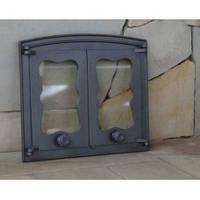 Дверка чугунная Batumi 1 со стеклом, фото 1