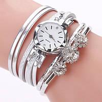 Женские кварцевые часы - браслет, белые