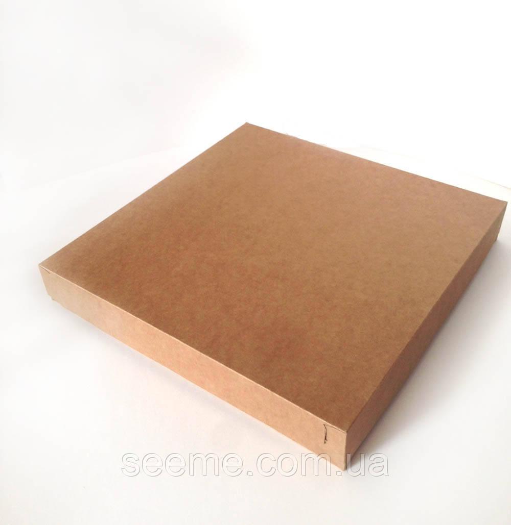 Коробка із крафт картону 350*350*50 мм
