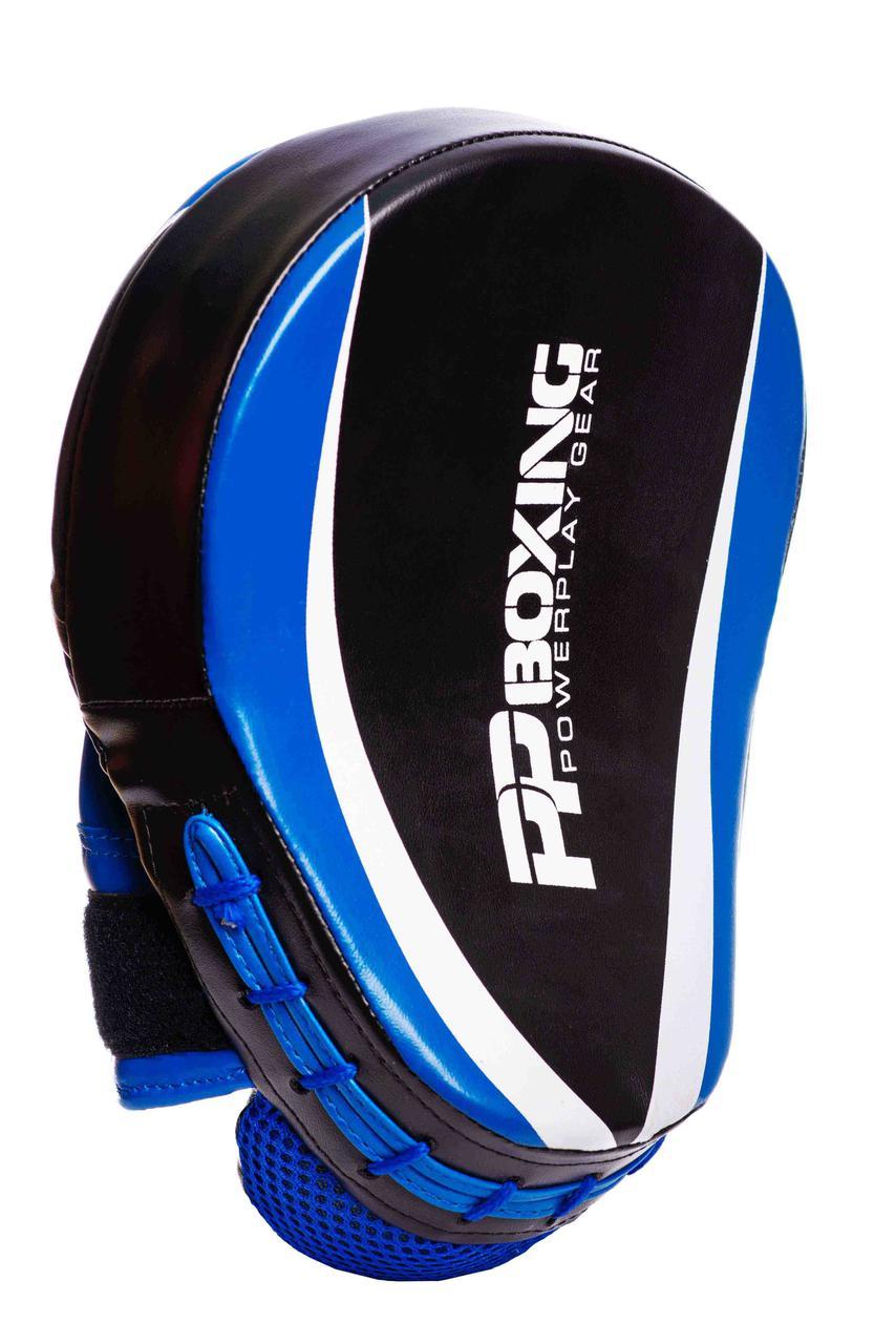Лапы боксерские PowerPlay PU / 3050 / black-blue