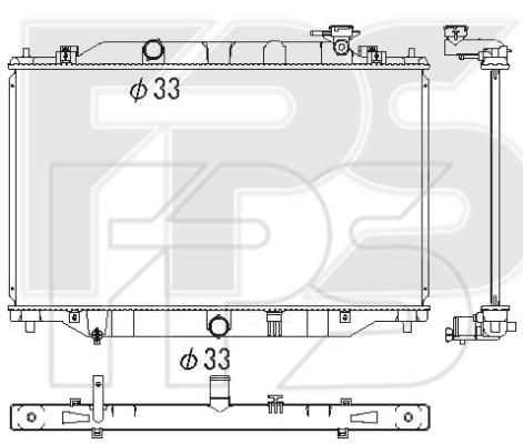 Радиатор охлаждения двигателя Mazda CX-5 (12-16) бенз. 2.0, 2.5 (AVA)