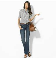 Женские рубашки Polo Ralph Lauren с КОРОТКИМ рукавом