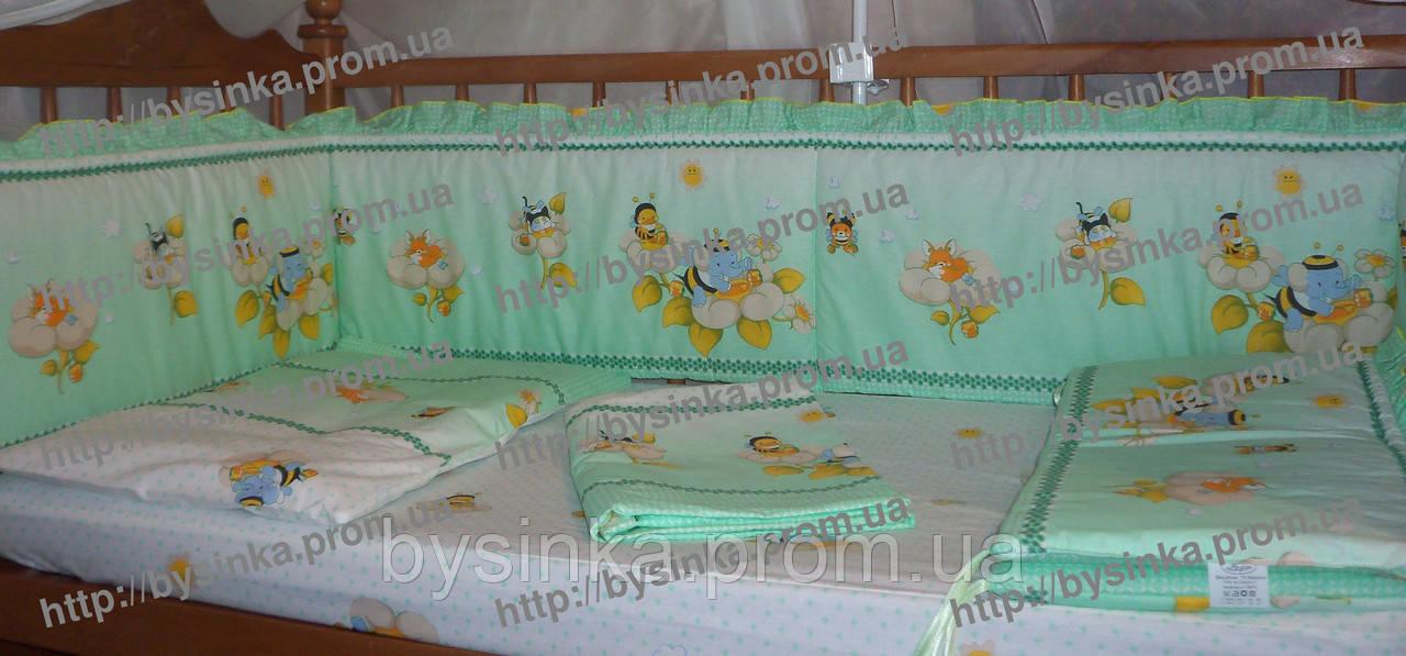 Набор детской постели из 3-ед в кроватку.