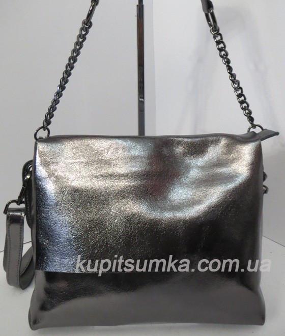 fe6bb20b6d3c Женский клатч серого цвета, из натуральной кожи, два отделения, фото 2 ...