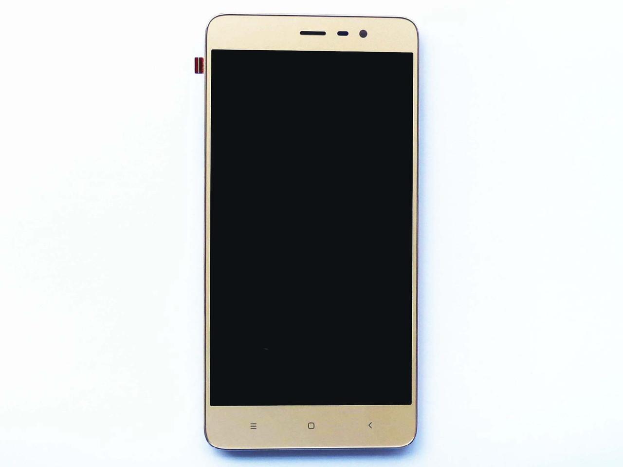 Дисплей для Xiaomi Redmi Note 4X с тачскрином и рамкой золотистый Оригинал