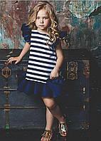Детское платье в полоску с рюшами 16711, фото 1