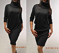 Удлиненное шерстяное платье-туника. 75%шерсти