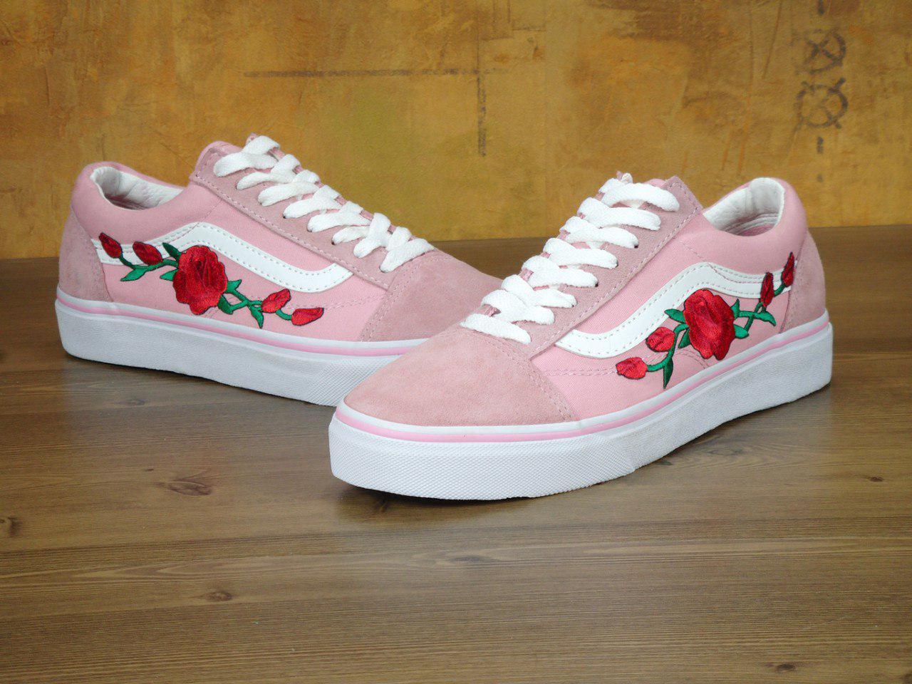 Женские кеды Vans Old Skool Pink Roses 11252  продажа, цена в Киеве ... 7eaaf9b7842
