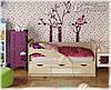 Детская кровать Дельфин-1 МДФ 1,6м матовая, фото 2