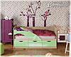 Детская кровать Дельфин-1 МДФ 1,6м матовая, фото 4