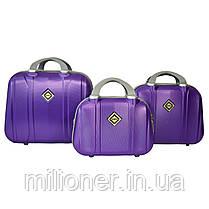 Набор чемоданов и кейсов 6в1 Bonro Smile фиолетовый, фото 3