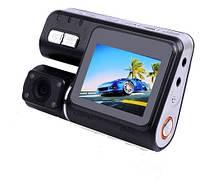 """Видеорегистратор с поворотной фронтальной камерой экраном 2"""" дюйма на 2 камеры"""