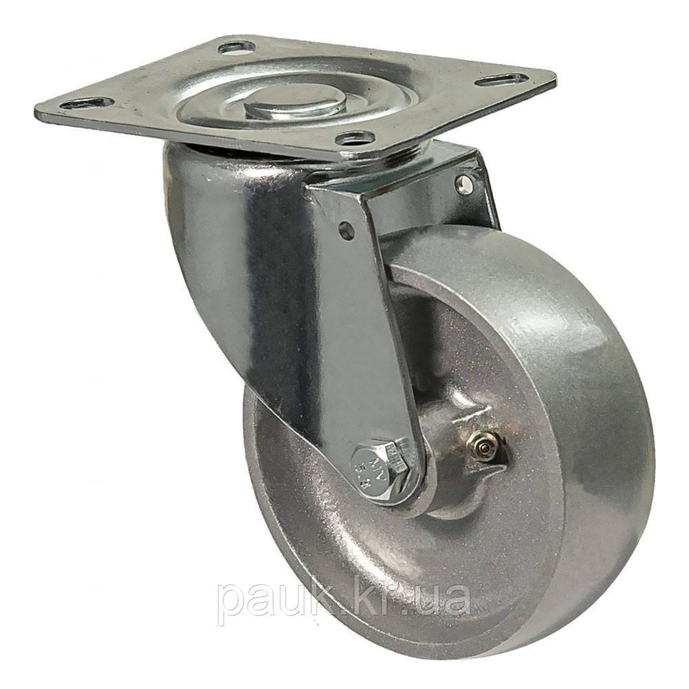 """Колесо 4102-NT-100-P(41 """"Termо Lux"""") Ø 100мм, поворотное с крепежной панелью"""