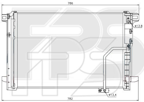 Радиатор кондиционера Mercedes C-Class W204, E-Class W212 (AVA)