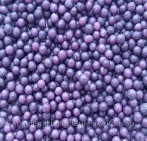 Фиолетовые сахарные бусинки 3мм, фото 2