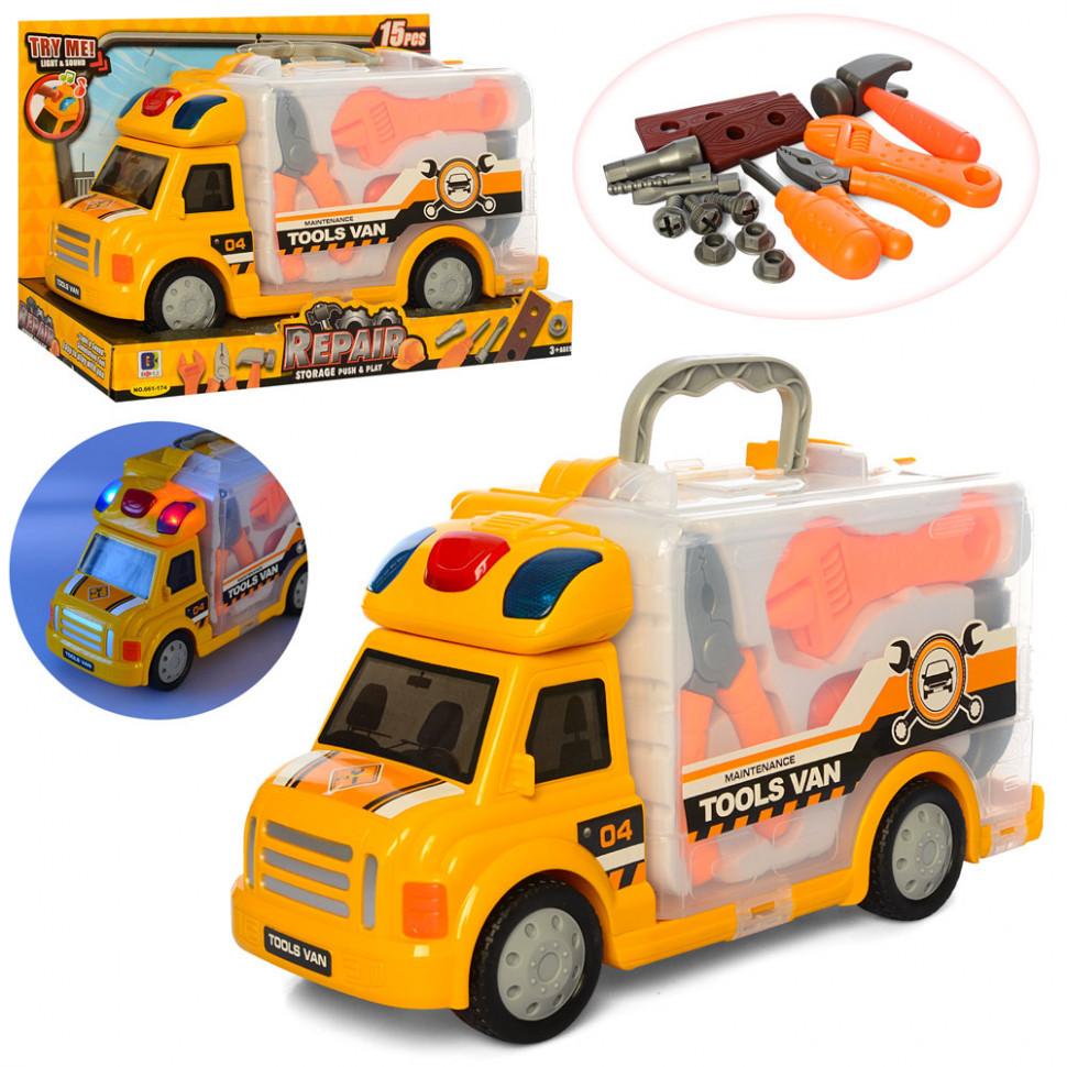 Машина с набором инструментов