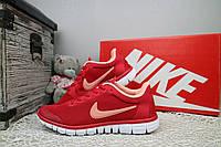 Кроссовки Женские Nike Free Run 3.0 Красные