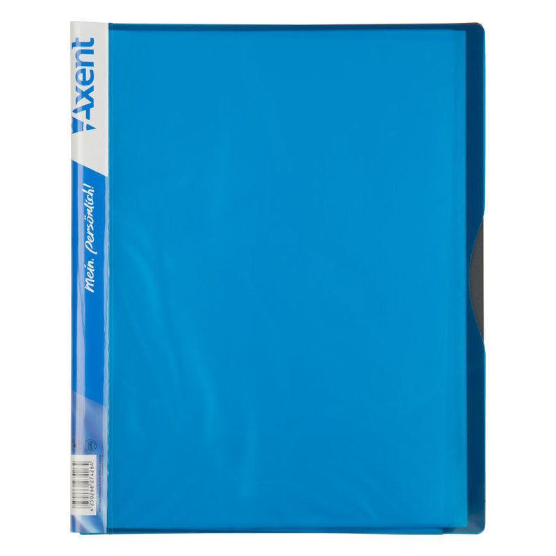 Дисплей-книга 20 файлов, голубая