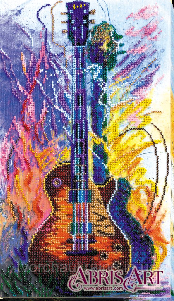 Набор для вышивки бисером на холсте «Гитары звуки»