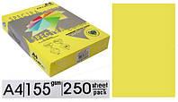 "Бумага цветная формат А4 плотность 155 Желтая неон ""Spectra"" Yellow363"