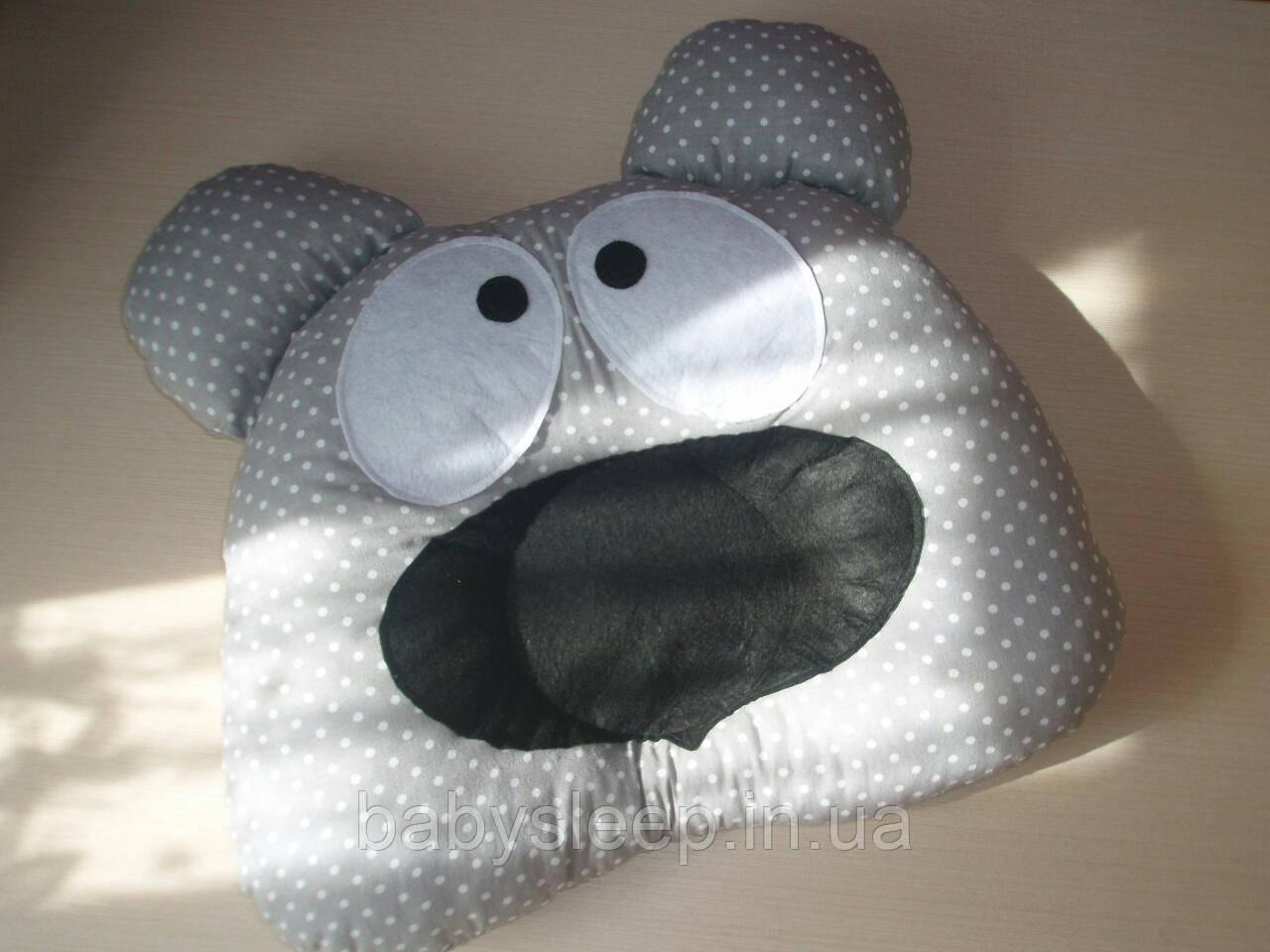 Ортопедическая подушка мишка