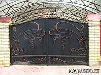 Ворота кованные с рисунком