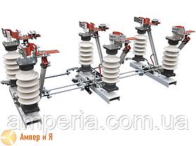Разъединитель трехполюсный РД-35/1000 (фарфор) с приводом без общей рамы, фото 2