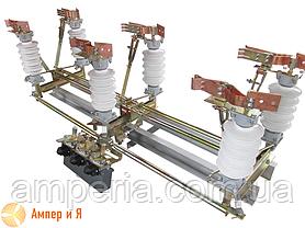Разъединитель трехполюсный РД-35/1000 (фарфор) с приводом без общей рамы, фото 3