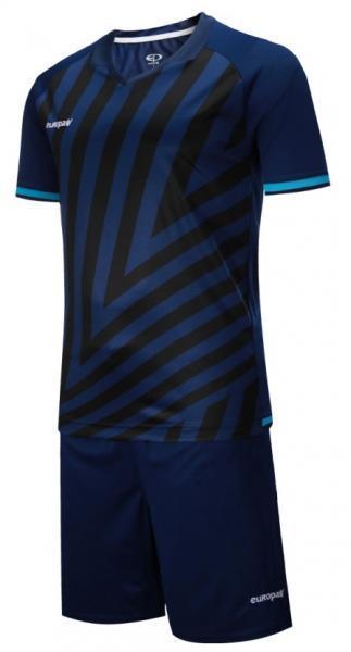 Детская футбольная форма Europaw 016 темно-сине-бирюзовая ( 3XS, 4XS )