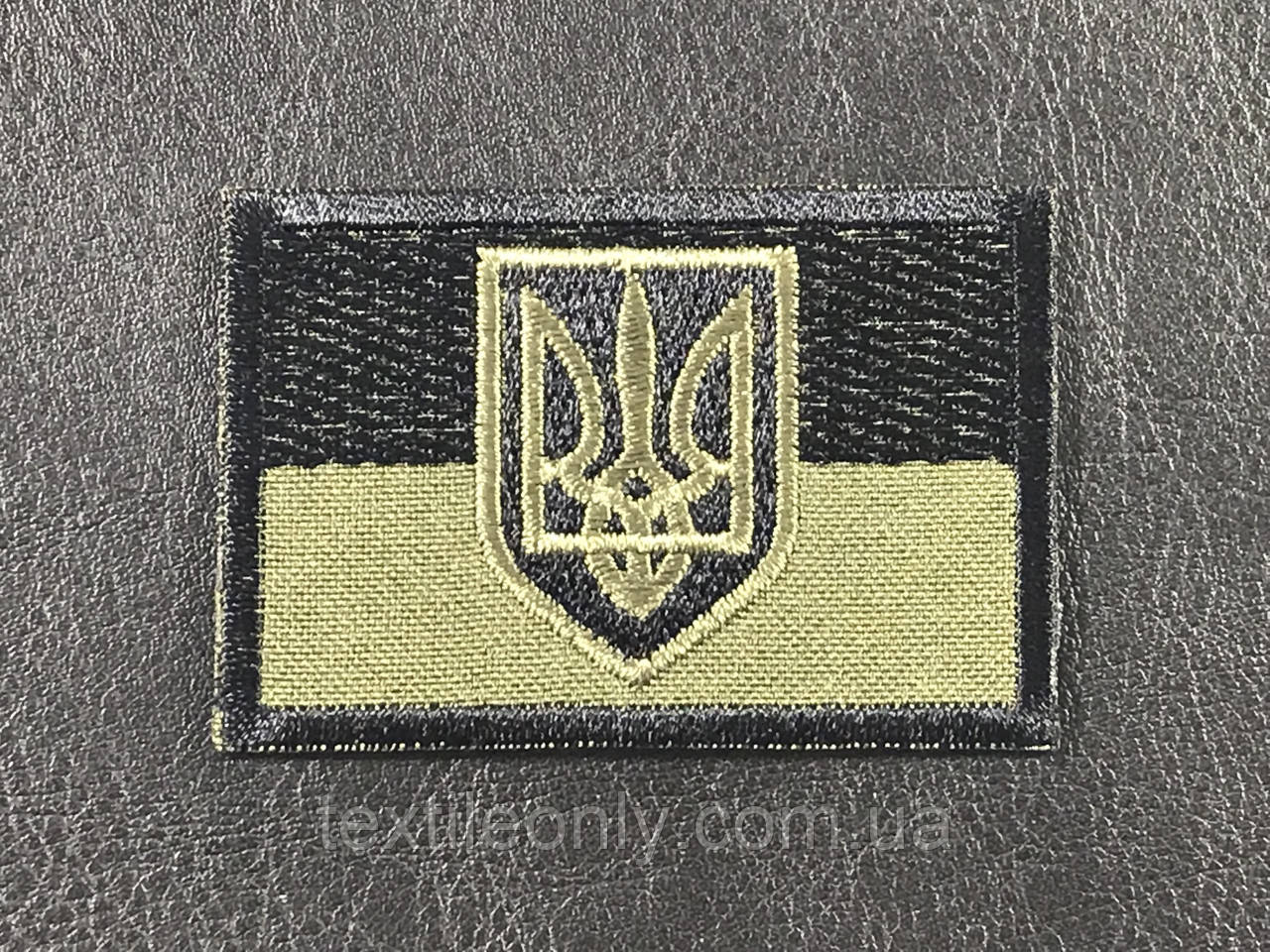 Нашивка флаг с гербом хаки 60х42 мм